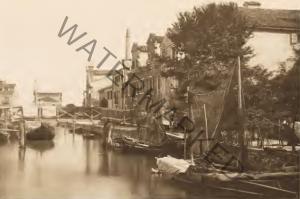 Il Rio de la Palada (verso levante) nell'Isola della Giudecca